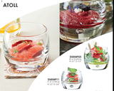 Atoll Glass Bowl for Dessert or Appetizer - 24 Pack