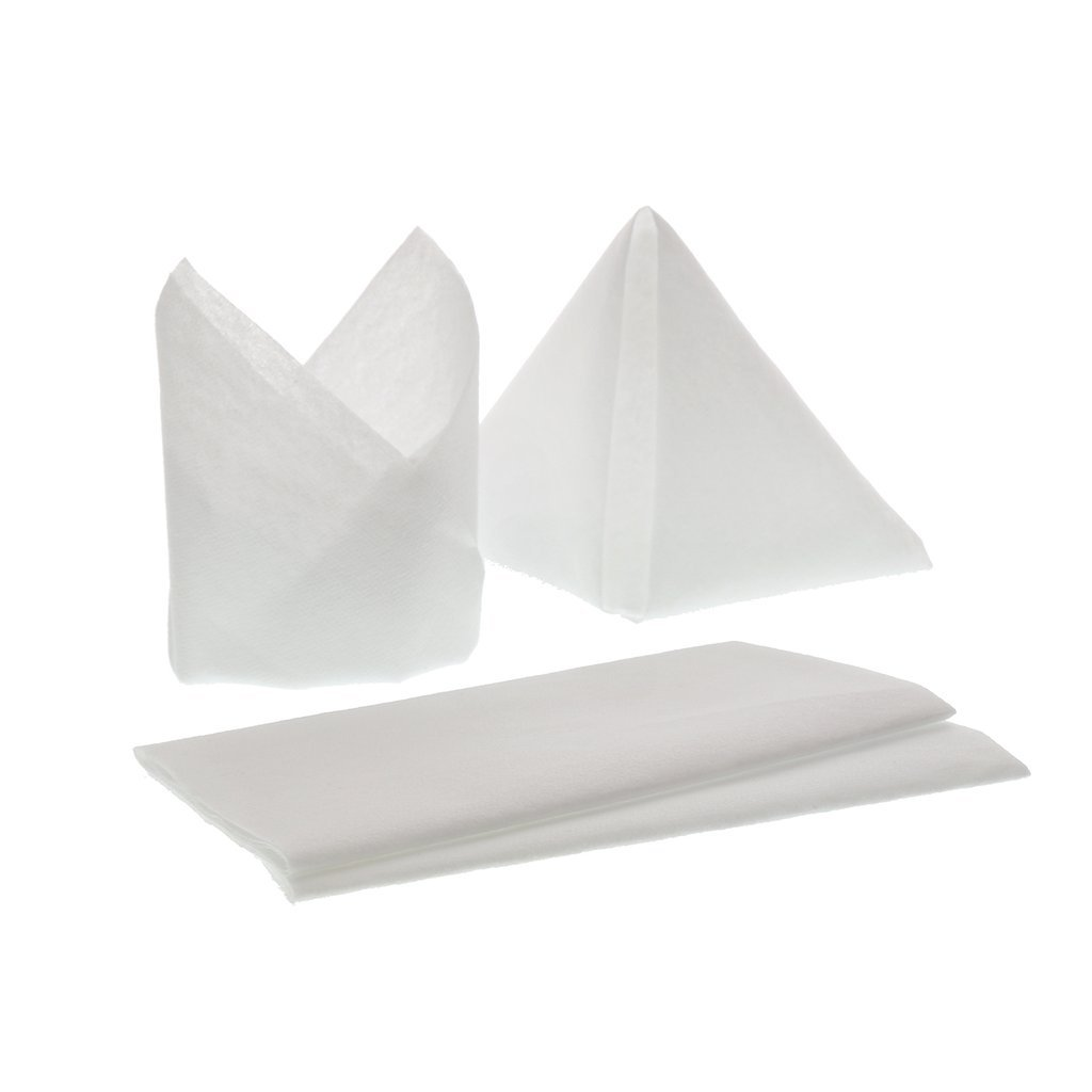 Linen-Like Airlaid White Paper Napkins