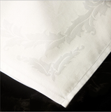 Cotton Blend Baroque Beauty Damask Table Linens