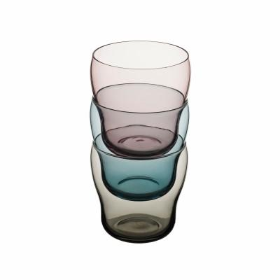 Colorful 10 Oz. Stackable Glass Tumblers - Degrenne Bilbao Collection, Pack of 24