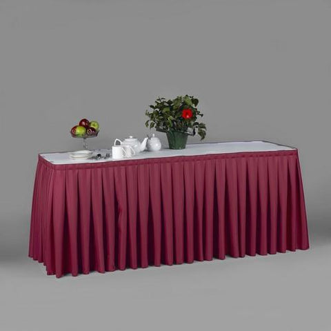 Bengaline Moire Linen Table Skirting, 20 Colors, Pack Of 2.
