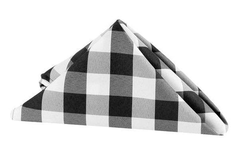 Gingham Poly Check Polyester Napkins, 5 Dz. Pack
