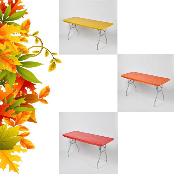 Thanksgiving/Fall Pack Fitted Plastic Table Cover