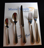 French Leaf Premium Stainless Steel Flatware 20-Piece Set for 4, Corby Hall