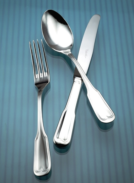 Gotico 18/10 Flatware, Mirror Finish, Contemporary Style,  Corby Hall 1800