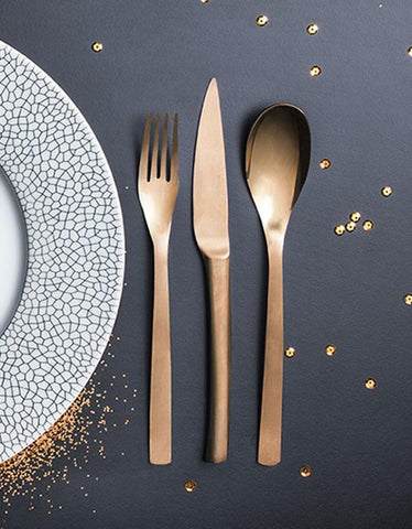 Guest Cuivre Copper 18/10 Stainless Steel Flatware Degrenne