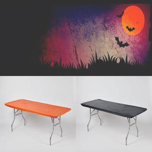 Halloween Pack Fitted Plastic Table Cover