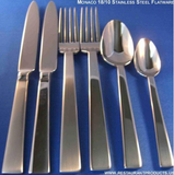 Monaco Mirror Finish Stainless Steel Premium Flatware, Corby Hall