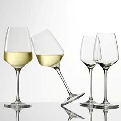 Crystalline Transparent Wine Glasses - Degrenne Muse Collection, Pack of 24
