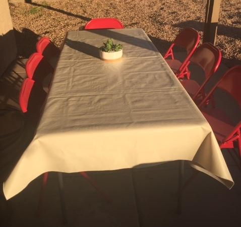 Oakley Leather Look Heavy Duty Vinyl Tablecloth