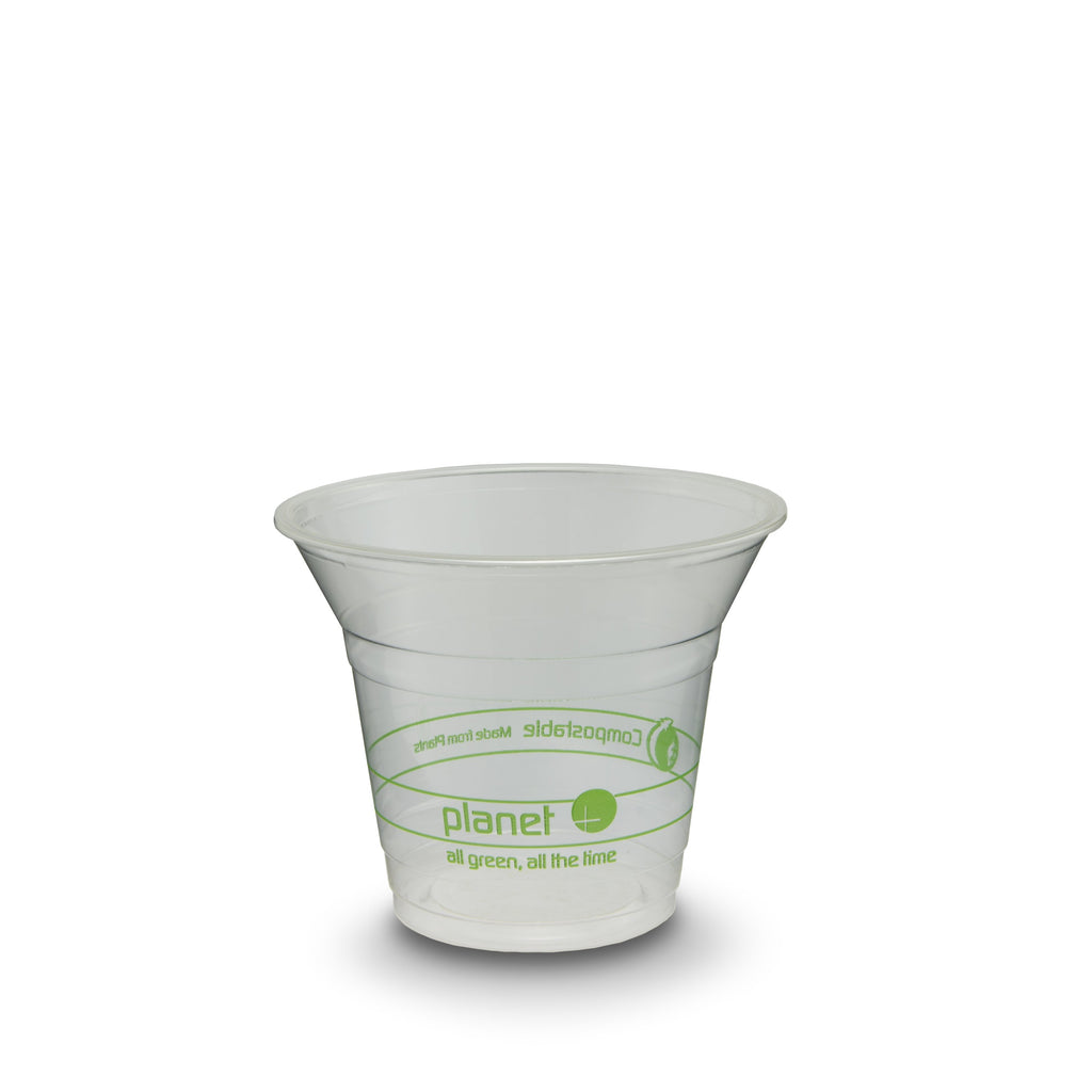 "Biodegradable ""Plastic Look & Feel"" Clear Cups 1000 Ct. (20 Packs of 50)"