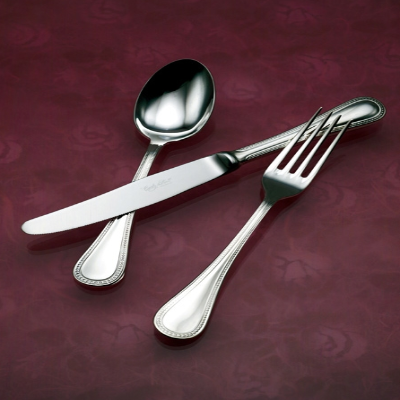 Perola Mirror Finish Stainless Steel Flatware, Corby Hall