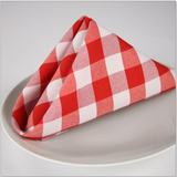Premier Red & White Check Napkin