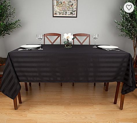 Premier Satin Stripe Linen Tablecloths 1 Dz.