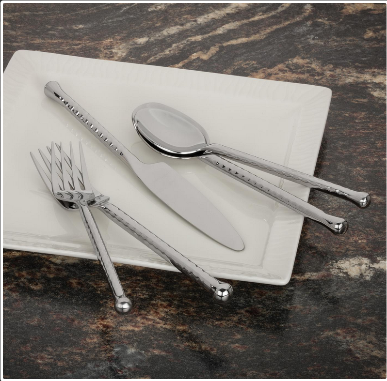 Riptide 20-Piece Premium Stainless Steel Walco Flatware Set