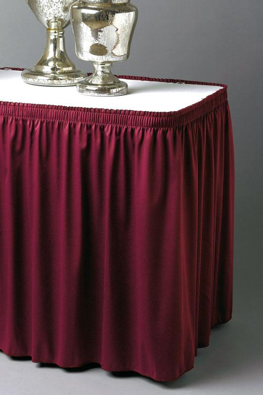 Shirred Table Skirting with Wyndham Fabric
