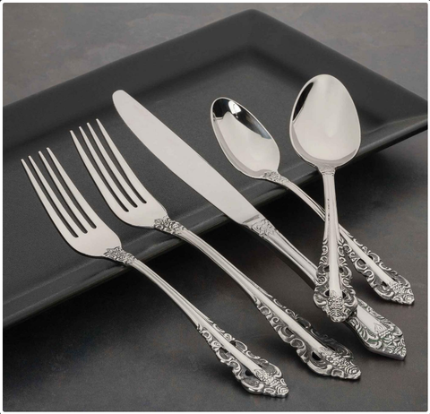 Classic Baroque Flatware Collection, Walco