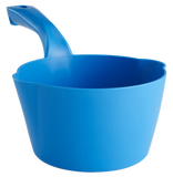 blue round dipping bowl