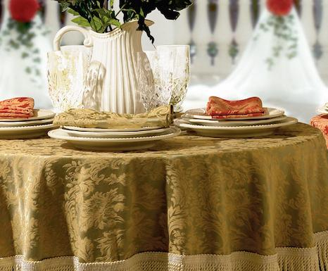 Miranda Damask Linen Tablecloth