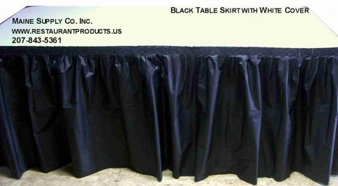 Solid Colored Disposable/Reusable Kwik-Skirt Table Skirt 10 Pack