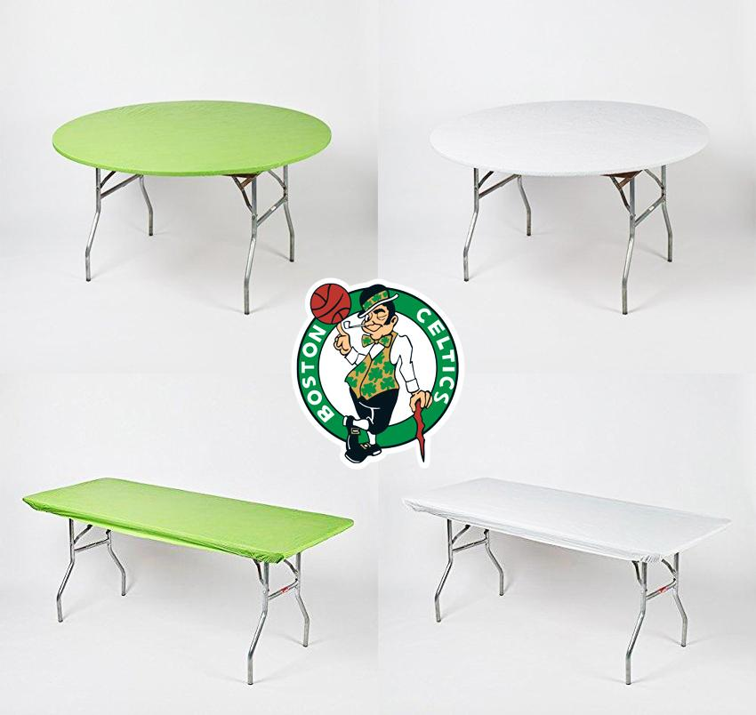 Boston Celtics Plastic Fitted Table Covers Pack
