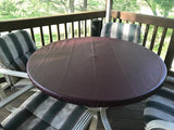 leather look vinyl burgundy fitted round tablecloth