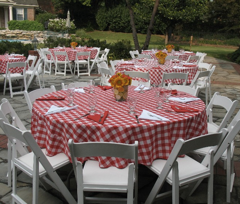 Gingham Check Polyester Tablecloth 1 Dz.