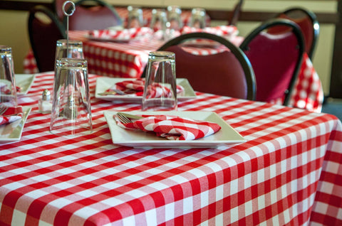 Checkpoint Gingham Check Linen Tablecloth 1 Dz.