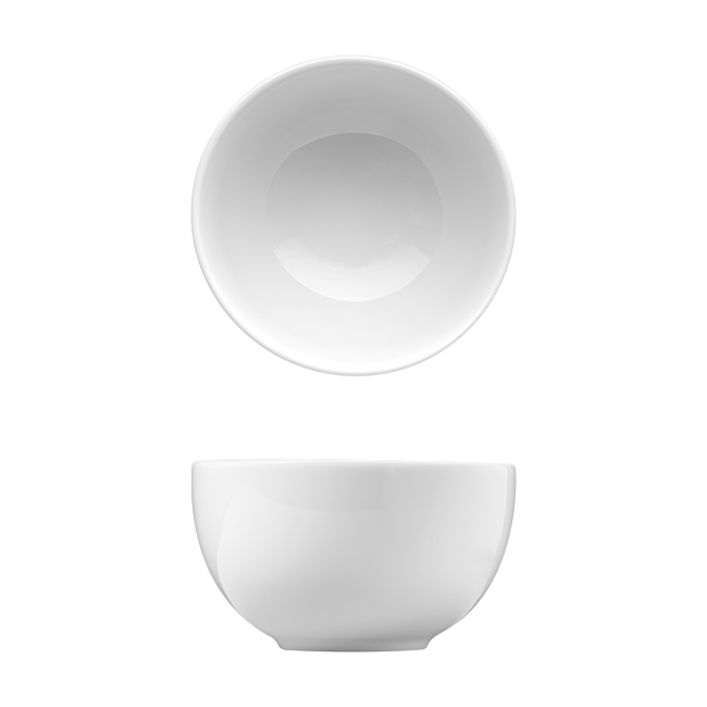 Coupe Oblong White Porcelain Dinnerware Set for 12 - Corby Hall Saturno Bright
