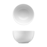 "Saturno Bright White Porcelain Bowl 4 1/4"" 12oz"