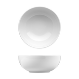 "Saturno Bright White Porcelain Bowl 5 1/2"" 16oz"