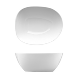 "Saturno Bright White Porcelain Individual Salad Bowl 6 3/4""x5 1/2""x2 3/4"" 24oz"