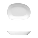 "Saturno Bright White Porcelain Large Dip Bowl 6"" x 4 1/2"" 6oz"