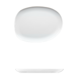 "Saturno Bright White Porcelain Large Plate 12 5/8"" x 9 1/2"""