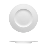 Saturno White Porcelain Dinner Plate 11-3/8""