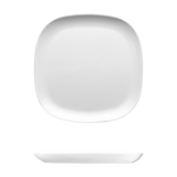 Saturno Bright White Porcelain Square Plate 10 3/8""