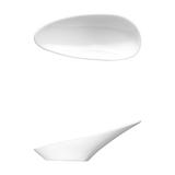 "Saturno Bright White Porcelain Tasting Spoon 4 7/8"" x 2 1/8"""