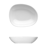 "Saturno Bright White Porcelain Medium Dip Bowl 4"" x 3 1/4"" 2oz"