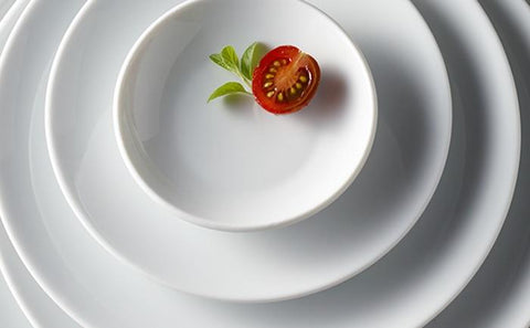 Saturno Coupe White Porcelain Dinnerware Collection