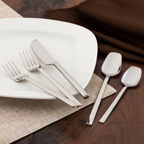 Erik 60-Piece Premium Flatware Set w/ Erie Steak Knife Set for 12