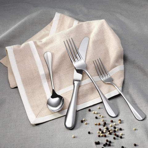 Baguette Stainless Steel Flatware Collection, Corby Hall