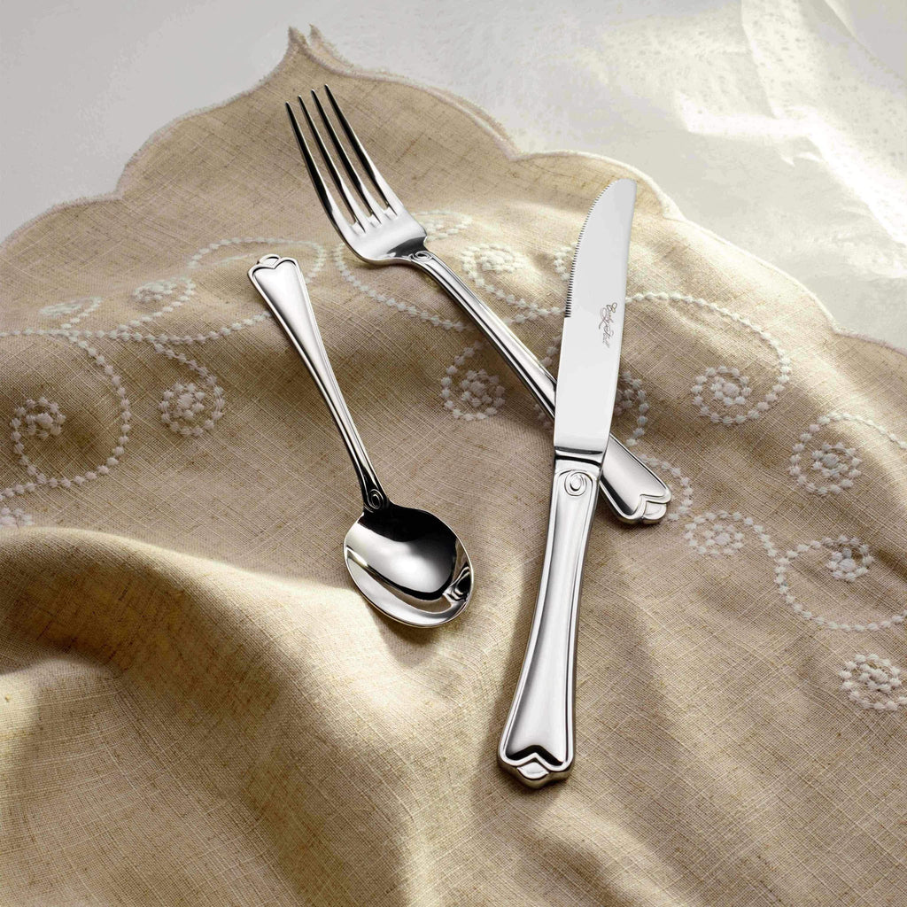 Madison Mirror Finish Stainless Steel Flatware, Corby Hall