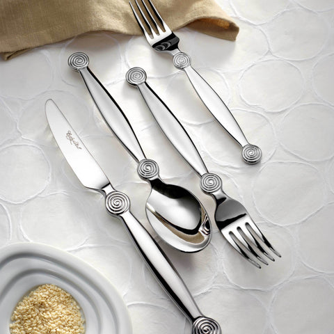 Miami 18/10 Premium Flatware, Mirror Finish, Contemporary Style, Corby Hall 4800
