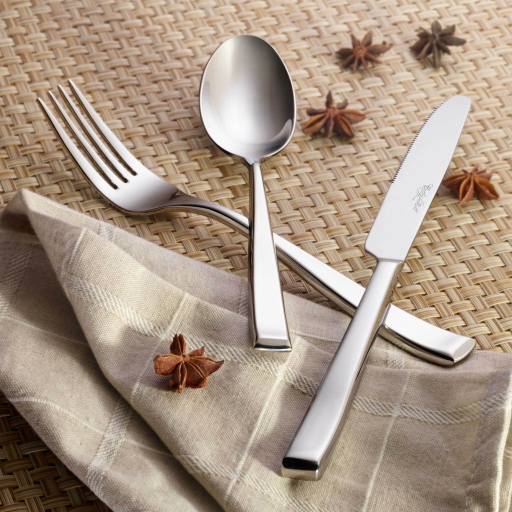 Oslo Premium Stainless Steel Flatware 60-Piece Set for 12, Corby Hall