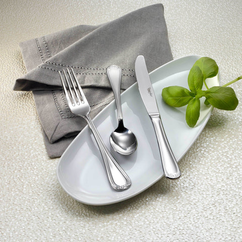 Teresa Mirror Finish Stainless Steel Flatware, Corby Hall