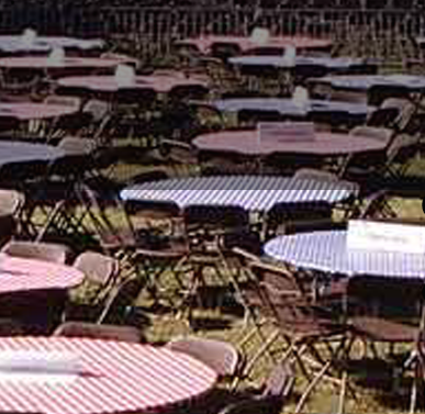 Kwik-Cover Gingham Check Round Fitted Plastic Table Cover Variety Pack