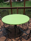 leather look vinyl lime geen fitted round tablecloth
