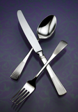 Napoli Mirror Finish Stainless Steel Flatware, Corby Hall