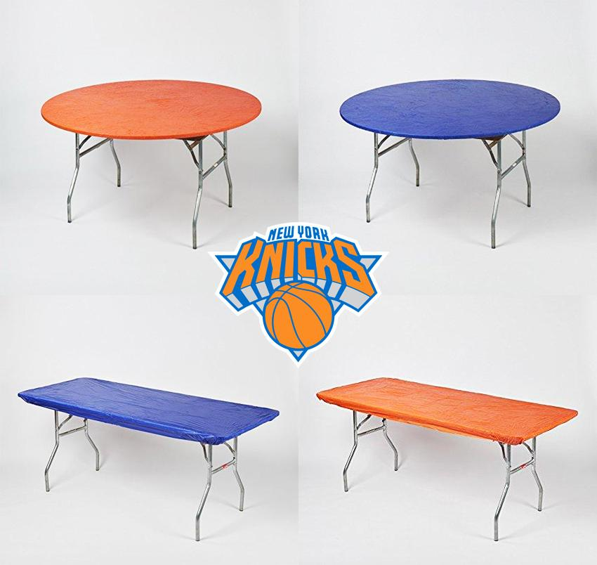 New York Knicks Plastic Fitted Table Covers Pack