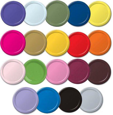 Colored Paper Plates - 240 Ct.